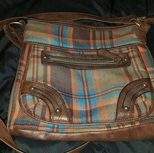 Handbags - Brown tartan/plaid cross shoulder bag